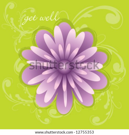 Vector get well greeting card