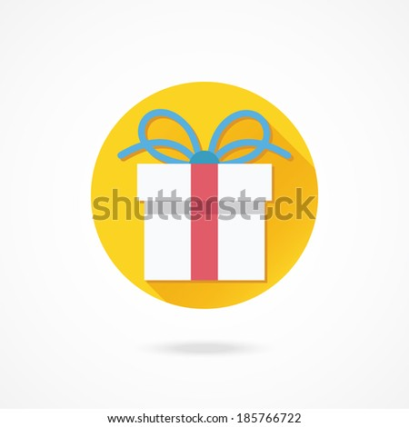 Vector Gift Box Icon - stock vector