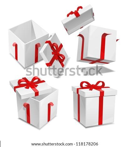 vector gift box set - stock vector