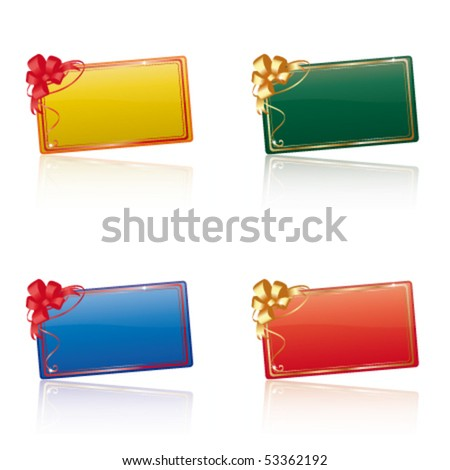 Vector gift cards - stock vector