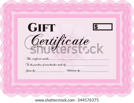 Vector gift certificate template border frameeasy stock vector vector gift certificate template border frameeasy to print excellent design yadclub Image collections