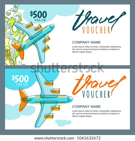 Plane coupons template