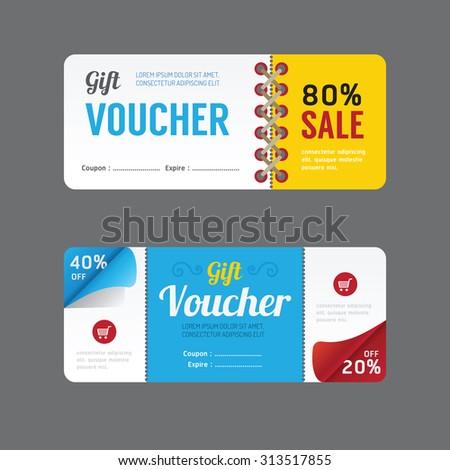 Vector Gift Voucher Coupon Template Design Stock-Vektorgrafik ...