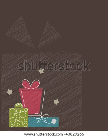 Vector gifts. (EPS10) with place for you text. - stock vector