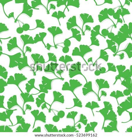 Vector Ginkgo Leaves Can Be Used For Wallpaper Pattern Fills Textile Web