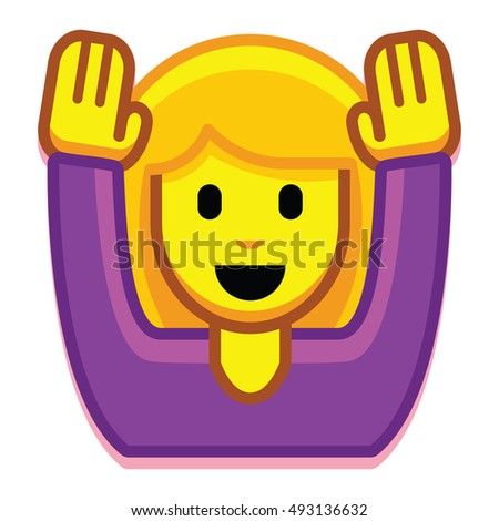 vector girl hands isolated on white stock vector royalty free