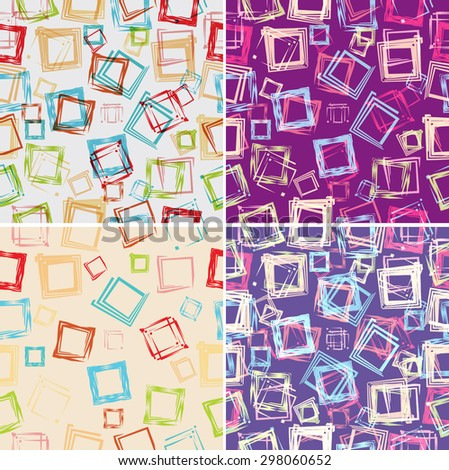 Vector Girly Seamless Texture with Grunge Rectangle Elements . Vintage Patterns. Retro Background .