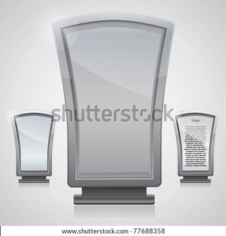 Vector glass and metal advertising panel / billboard - stock vector