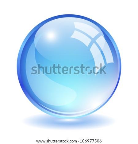 Vector glass ball illustration - stock vector