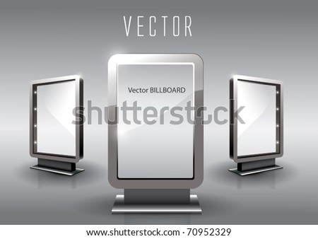 Vector Glass Billboard - stock vector
