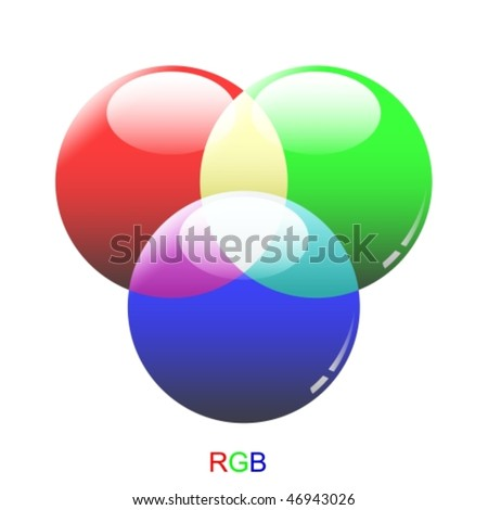 Vector glass chart RGB color modes - stock vector