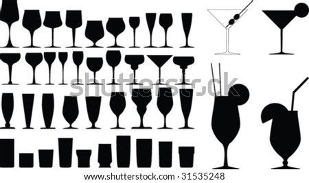 Vector glass collection - stock vector