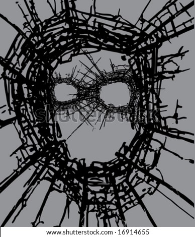 Vector Glass crash - stock vector