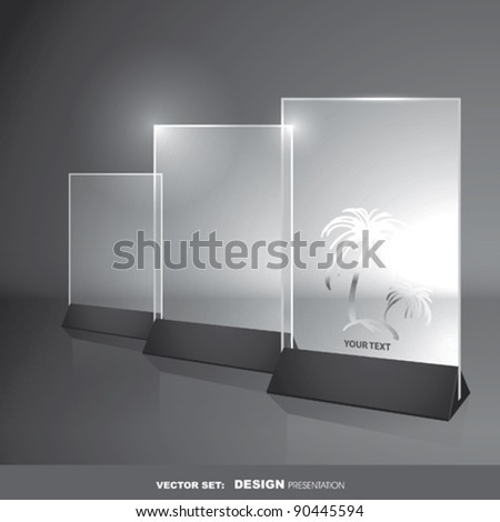 Vector Glass Frame Design  for your text - stock vector