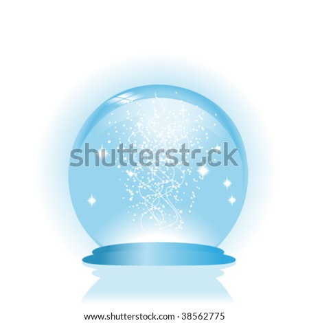 Vector glass globe with drops of water