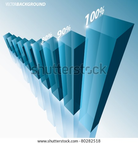 Vector Glass Graph - stock vector