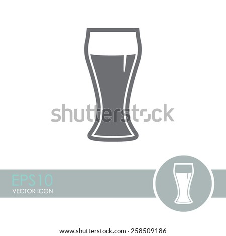 Vector glass of beer icon.