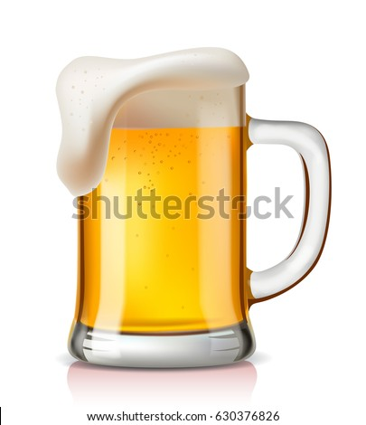 vector glass of beer on a white background