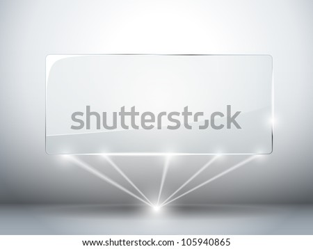 Vector - Glass Plate Background with Lasers