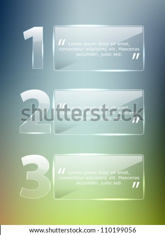 Vector Glass Progress background / product choice or versions - stock vector