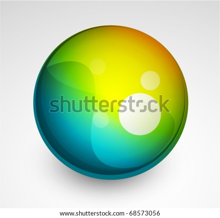 Vector glass sphere - stock vector