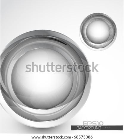 Vector glass sphere background - stock vector