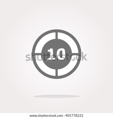 vector glass target web icon, button isolated on white background. Vector target Icon logo, target vector Icon Sign, target Icon Flat, target button vector, target button icon app, target icon UI - stock vector
