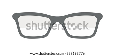 Vector glasses isolated on white background. Hipster fashion glasses. Fashion glasses vector illustration. Glasses isolated vector illustration. Glasses vector, glasses icons. Glasses isolated white - stock vector
