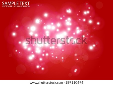 Vector glittering red background shine - Vector red sparks background illustration - stock vector