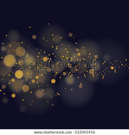 vector glittering stars on bokeh background - stock vector