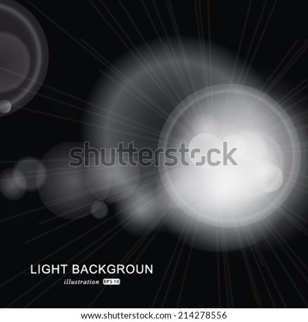Vector glittery lights silver abstract background. - stock vector