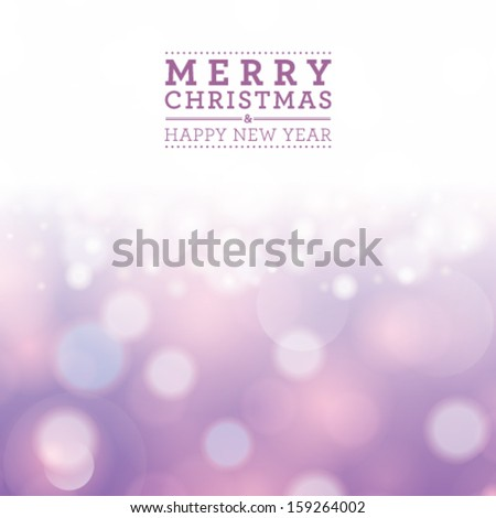 Vector glittery silver Christmas background with place for new year text invitation. - stock vector