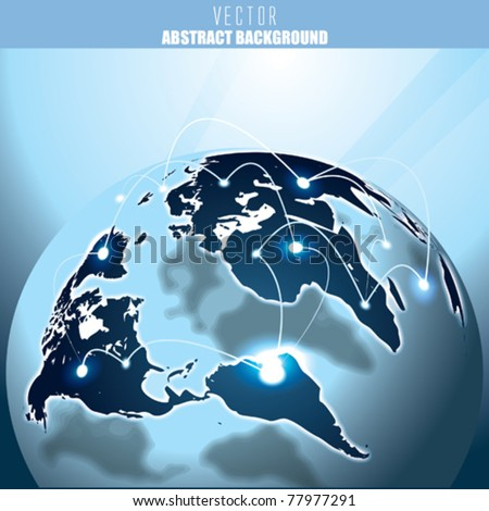 Vector Global Communication - stock vector