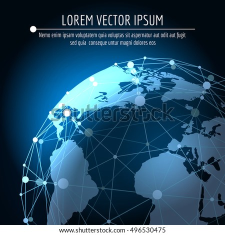 Vector global connection abstract background internet stock vector vector global connection abstract background internet 3d network business globalization concept with world map gumiabroncs Image collections