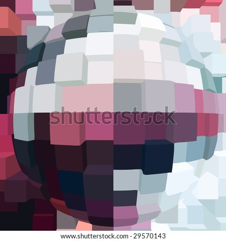 vector - global geometry - stock vector