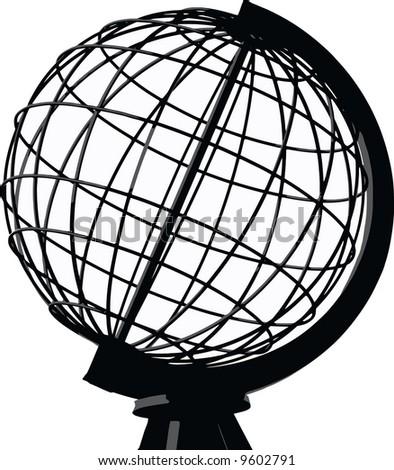 vector - globe - stock vector