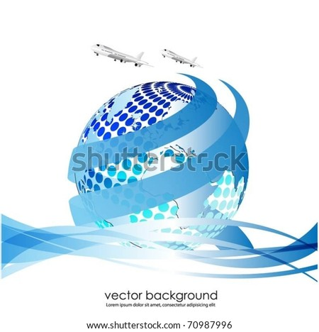 vector globe background - stock vector