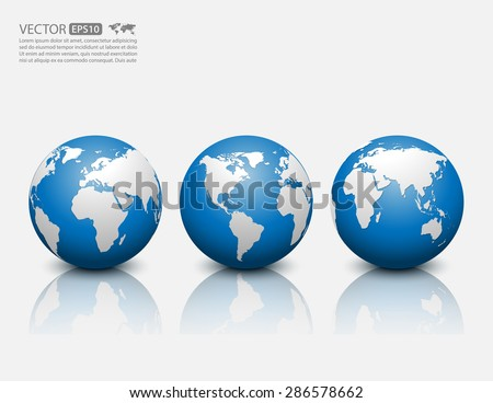 Vector globe icon. - stock vector