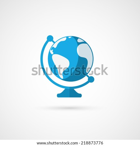 Vector globe icon. Geography. - stock vector