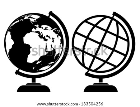 Vector globe icons - stock vector