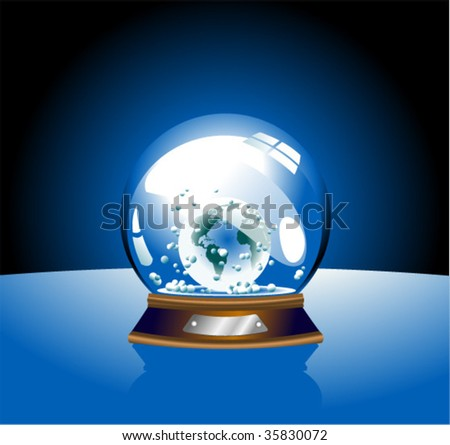 vector globe illustration