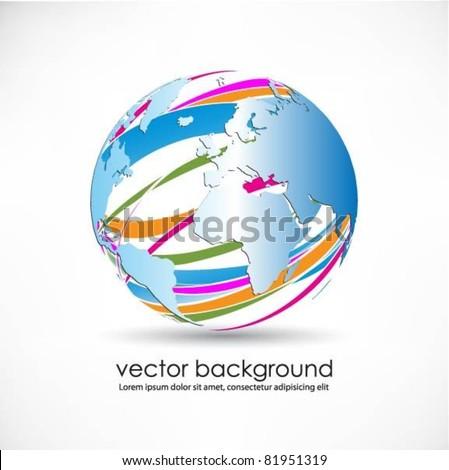 vector globe surface - stock vector