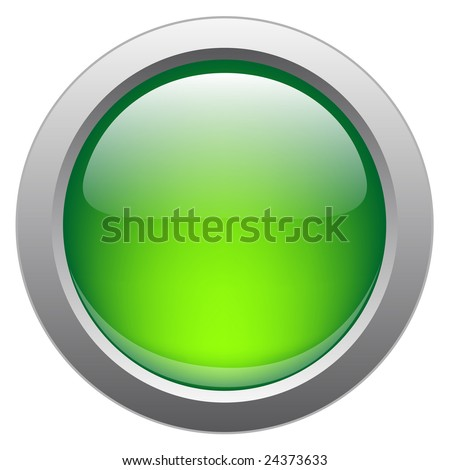 Vector glossy button for web applications. - stock vector