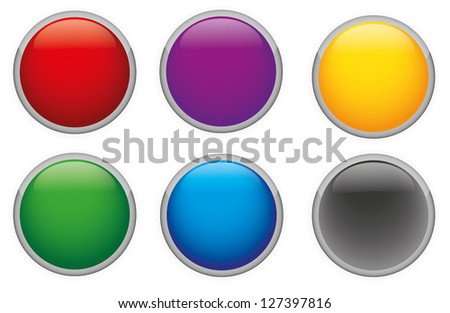 Vector Glossy buttons in various colors.
