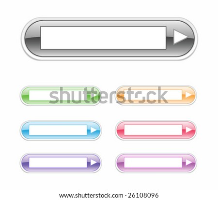 Vector glossy drop-down. For other similar images from the series, please, check my portfolio. - stock vector