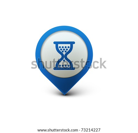 vector glossy hourglass web icon design element. - stock vector