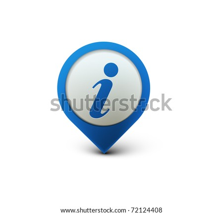 vector glossy information web icon design element. - stock vector