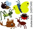 vector glossy insects - stock vector