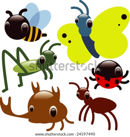 vector glossy insects