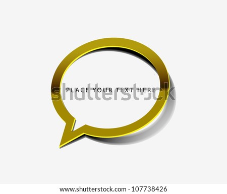 vector glossy messenger window web golden icon design element. - stock vector